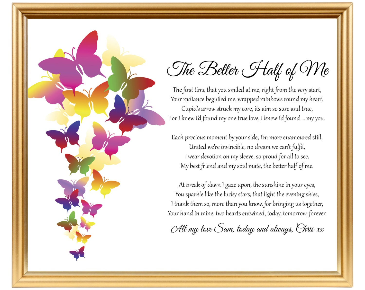 Wedding Gift For Your Wife: Gift For Wedding Anniversary Poem For Him Her For Wife For