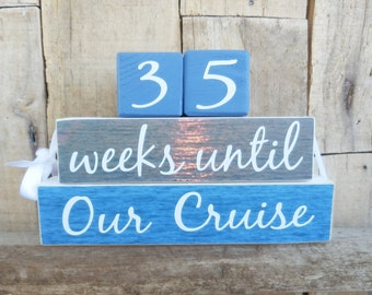 Countdown blocks, Our Cruise countdown,  days until (weeks until) Our Cruise, Our Vacation