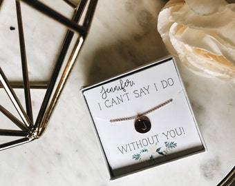 Personalized bridesmaid Initial necklace
