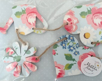 Cath Kidston's Daisies and Roses Wooden Heart, Watering Can and Daisy Garland/Bunting