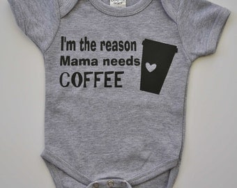 Baby Coffee Bodysuit, Caffeine Outfit, Mom and Me, I Need Coffee