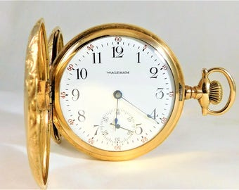 Ornate Antique 1905 American Waltham Pocket Watch