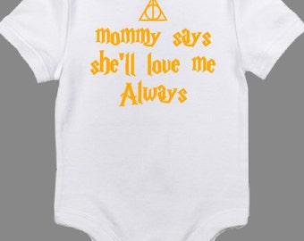 Harry Potter inspired baby onesie
