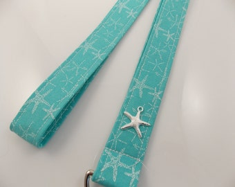 Lanyard Starfish Lanyard Ocean Lanyard Shore Lanyard Beach Lanyard Teacher Lanyard Starfish Key Holder Turtle Lanyard Work Lanyard