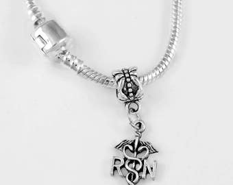 ER Nurse Jewelry Nurse Gift Emergency Room Caduceus  Nurse Hospital Tramma Triage charm Necklace Nurse gift RN LPN European Style