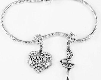 Dance Bracelet Ballet Gift Ballet Dancer Bracelet Dancing Girl Gift Dancer Jewelry Dance Present Ballet Dancing