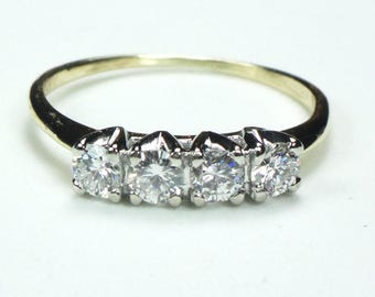 Vintage Diamond Wedding Ring Diamond Ring 14k Gold Wedding Band Vintage Diamond Wedding Band Love-Lite Diamond Wedding Ring