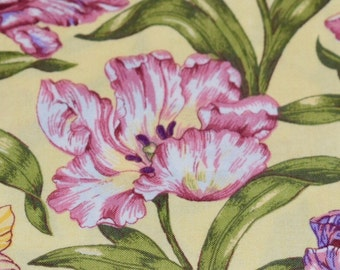 "Springs Industries, Floral Fabric, 18""x22"", Fat Quarter, Yellow Fabric, Quilting Fabric, Fabric"