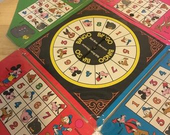 Vintage Walt Disney bingo game