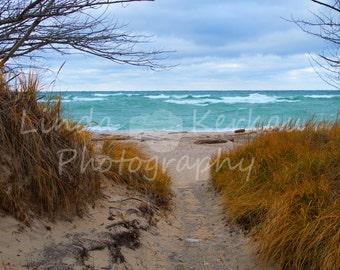 Lake Michigan Great Lake Path to the Beach at Point Betsie