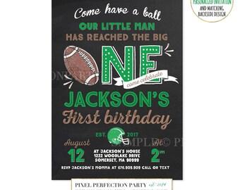 Football Birthday Invitation Football Invitation Football First Birthday Invitation Boy 1st Birthday Invitation Football Birthday Party