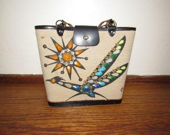 "1960's Enid Collins ""Roadrunner"" Box Bag-Handbag/Purse/Tote"