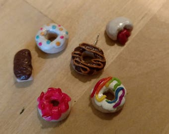 Handmade Polymer Clay Donut Charms