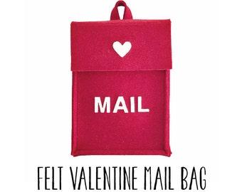 Downloadable PDF Pattern: Felt Valentine Mail Bag