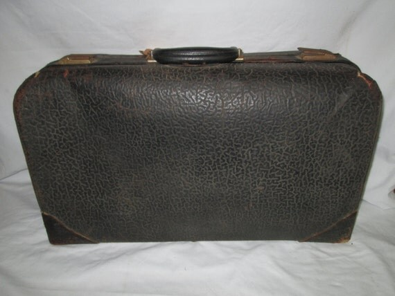 Items Similar To Antique 1800 39 S All Leather Suitcase