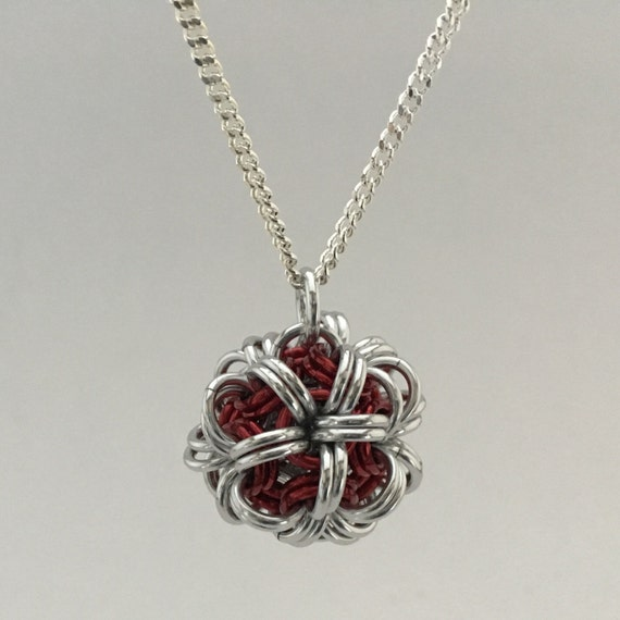 Japanese ball chainmaille pendant