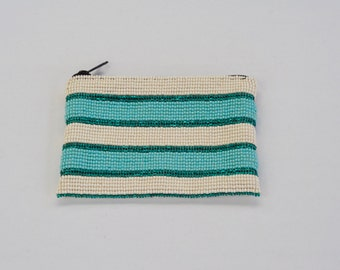 Horizontal Lines Beaded Coin Purse