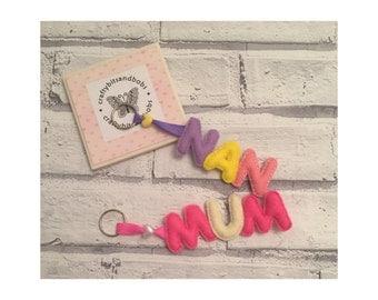 Stocking filler, christmas gift, MUM NAN keyring, mothers day keyring , mum keyring, nan keyring, something for her,
