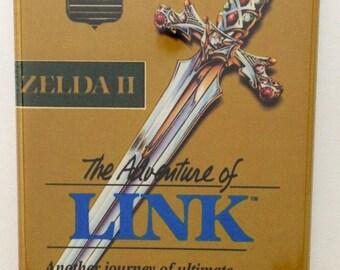 Adventure of Link refrigerator FRIDGE MAGNET Zelda 2 NES nintendo game box