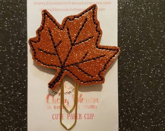 Autumn Maple Leaf Paper Clip