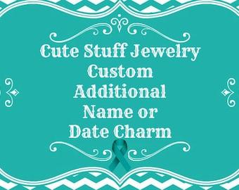 Custom Additional Name or Date Charm for a Bangle Bracelet Order