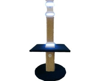 Cat Tree - Cat Scratcher - Fancy Cat Scratcher / Cat Post With Motion Sensor Lightings