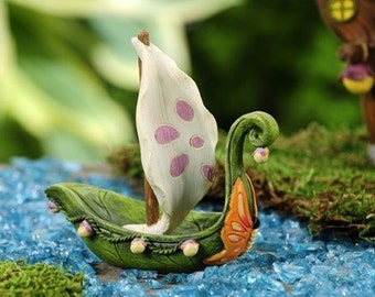 Fairy Garden  - Fairytale Sailboat - Miniature