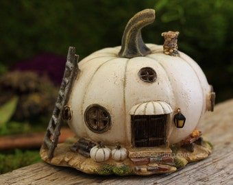 White Pumpkin Fairy House