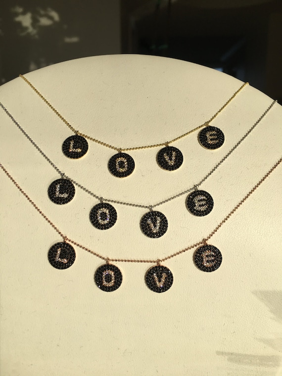 LIMITED EDITION love necklace with black cz
