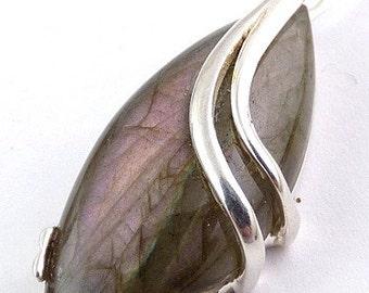 LABRADORITE purple large pendant labradorite, blue labradorite pendant, jewelry natural stone VK61.2