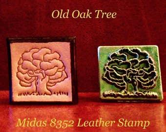 Oak Tree Stamp Etsy