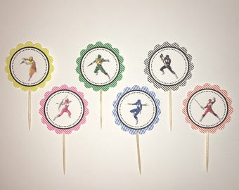 Power Rangers cupcake toppers