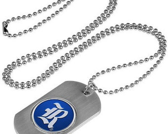 Rice Owls Stainless Steel Dog Tag Necklace