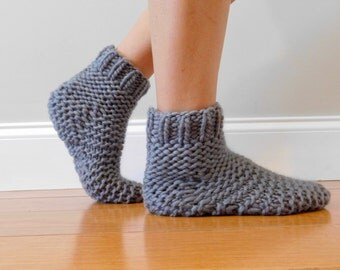 Knitted Slipper Socks, Christmas gift for women and children, cold weather gear for winter days