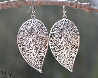 "Earrings "" Elven Clarity "" - silver - Medieval, celtic, elven, pagan, nature, fairy"