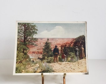 Vintage Lithograph // Grand Canyon // On the Rim