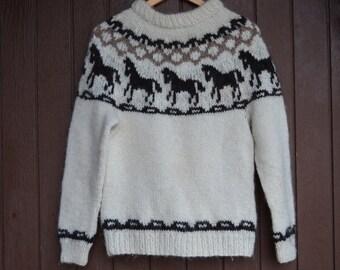 Icelandic sweater, Icelandic pullover,Icelandic knit,Lopapeysa,outwear,birthday gift,Ready to ship,size S/M,100% Icelandic pure yarn