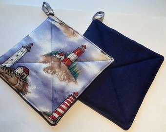 Quilted Pot Holders Lighthouses