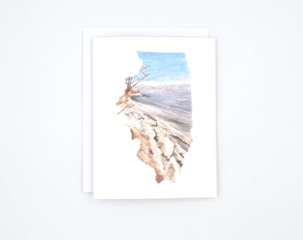 Illinois Notecards - Illinois State Art - Blank Notecards - Watercolor Notecards - Illinois Gift - Illinois Wedding - Stocking Stuffer
