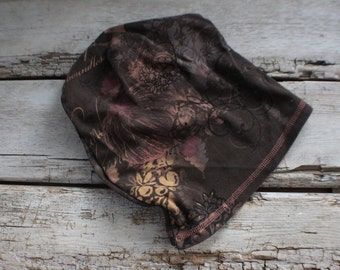 brown fall slouch hat, Valentine's day gift under 30, slouchy hat, slouch, hat, upcycled, gift, stretch, kids, adult, gift for her him