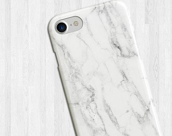 White Marble iPhone 7 Case, Marble Stone Galaxy Case, Granite Phone Case, Cute Phone Case, Soft Phone Cover, Gifts, Marble