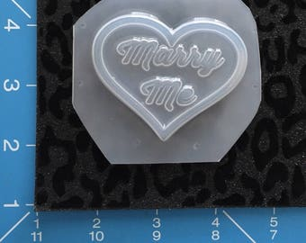 Marry Me Heart Mold