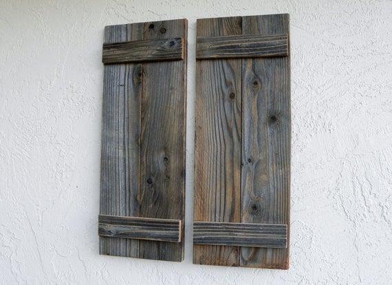 Rustic Shutters. LG. Door Shutters. Barn Doors. Rustic Wooden