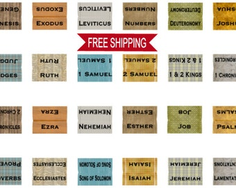 Bible Tabs for The Guys,  Books of The Bible Tabs, Journaling Bible