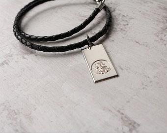 Saint Christopher - Men's Leather Necklace