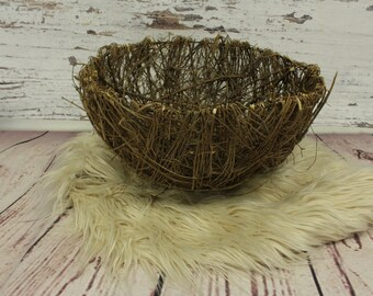 Vine basket, vine newborn nest prop, stick basket, newborn props