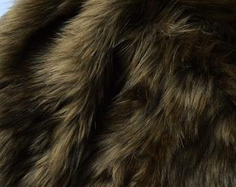 Brown Wolf Fur Craft Squares, Bear Cosplay Fur, Werewolf Cosplay Fur, Realistic Brown Fur, Werewolf Faux Fur Brown Cosplay Fur