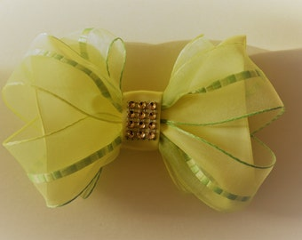 Hair bow barrette