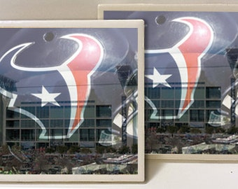 Houston Texans NRG Stadium Designed Set of 2 Ceramic Tile Coasters