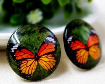 5 pcs Butterfly Cabochons Set